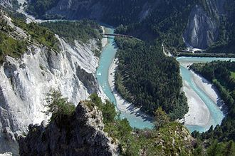 Swiss Alps - Rhine Gorge in Graubünden