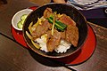 Rice bowl topped with deer meat (14727868470).jpg