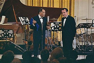 African-American culture - Composer Duke Ellington, pictured receiving the Presidential Medal of Freedom from Richard Nixon, is often held to be one of the most influential musical figures of the 20th century.