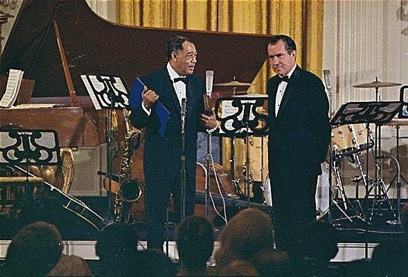 Richard Nixon and Duke Ellington 1969