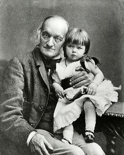 Richard Owen with his granddaughter