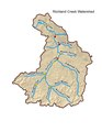 Richland Creek Watershed, Nashville, Tennessee with named tributaries.pdf