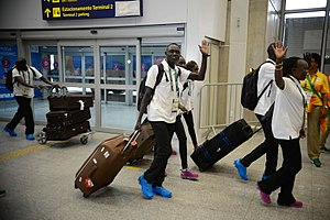 Refugee Olympic Team at the 2016 Summer Olympics - Refugee Olympic team arriving in Rio de Janeiro