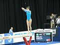 Riselda Selaj on beam during European Championship in Birmingham 2010.jpg