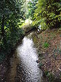 River Mun at the crossing in the village of Mundesley.JPG