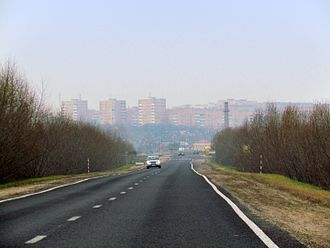 Slonim - Slonim skyline from the road to Baranavichy