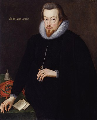 John de Critz -  Robert Cecil, later 1st earl of Salisbury. Attributed to John de Critz, 1602.