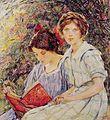 Robert Lewis Reid - Two Girls Reading.jpg