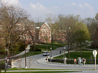 View looking east towards Roberts Hall Roberts Residence Hall Iowa State University.jpg