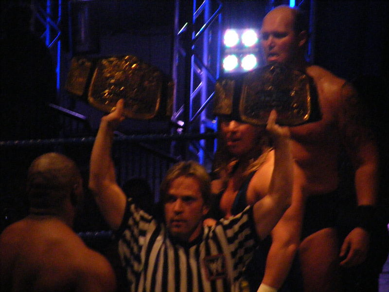 The tag-team belt goes to Slim and Will