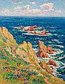 Rocks of Penharn Bay in Douarnenez (Rochers de Penharn Baie de Douarnenez) by Henry Moret.jpg