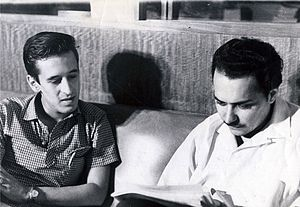 Fayad Jamís - Fayad Jamís (right) and Roque Dalton in the Hoys newspaper office (1962).