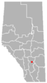 Rosebud, Alberta Location.png