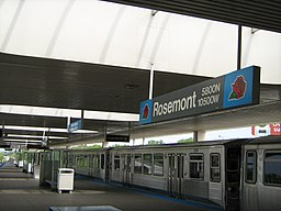 Rosemont blue line CTA