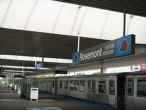 Rosemont station (CTA) - Image: Rosemont blue line CTA