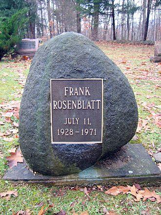 Frank Rosenblatt - The gravestone of Frank Rosenblatt, Brooktondale, NY.