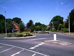 Roundabout at Langshott Housing Estate, Horley. - geograph.org.uk - 201881.jpg