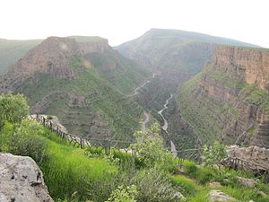 Rawandiz - Rowanduz Gorge near the city of Soran in the North of Iraq