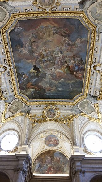 Royal Palace of Madrid - Giaquinto's fresco above the staircase