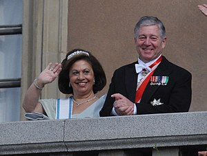 Line of succession to the former Yugoslav throne - Crown Prince Alexander with his wife Princess Katherine.