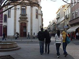 Rua da Junqueira - Junqueira as seen from República Square.