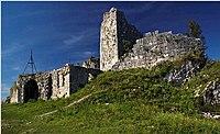 Ruinas de un antiguo castillo, en Anacopia, capital abjasia durante la época bizantina