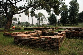 Kumhrar - Ruins of Ancient city of Patliputra at Kumhrar .