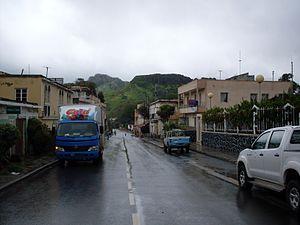 São Domingos, Cape Verde - Main street in São Domingos.