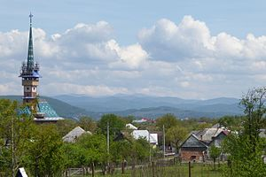 Săpânța - Image: Săpânța Panorama