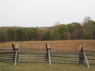 Battle of Sailor's Creek - A view of the battlefield as it appeared in 2010