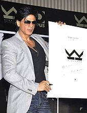 Shah Rukh Khan posing with his official Kraken Opus