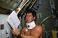 STS-55 Pilot Henricks with baroreflex collar.jpg