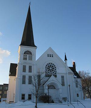 Sackville Methodist/United Church - The now-demolished Sackville United Church