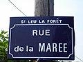 Saint-Leu-la-Foret - Plaque rue de la Maree.jpg