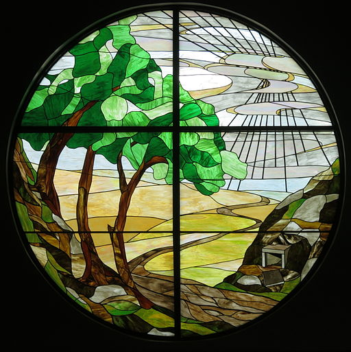 Saint Elizabeth Catholic Church (Columbus, Ohio) - stained glass, The Empty Tomb