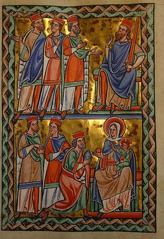 Geoffrey (archbishop of York) - Image: Saint Louis Psalter 17 recto