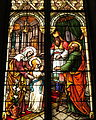 Saint Mary Catholic Church (Dayton, Ohio) - stained glass, Consecration of Immaculata.JPG
