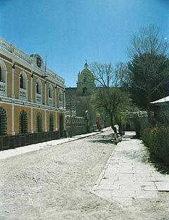 Municipal Building and Church at the Plaza de Arma