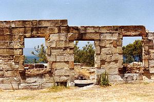 Coal Mines Historic Site - Image: Saltwater Creek ruins 2