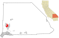 San Bernardino County California Incorporated and Unincorporated areas Victorville Highlighted.svg