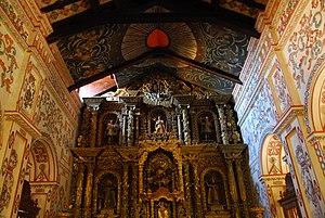 Martin Schmid - Altar in the Church of San Miguel de Velasco, Bolivia