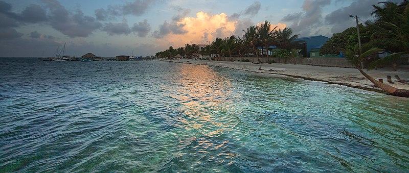 File:San Pedro Town, A.C., Belize, Dawn.jpg