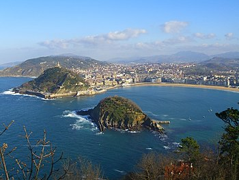 English: View of Donostia - San Sebastian from...