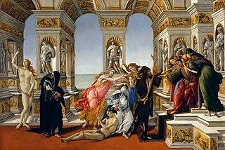 <i>Calumny of Apelles</i> (Botticelli) painting by Sandro Botticelli