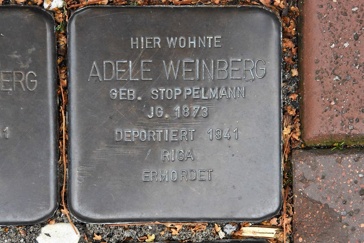 Stolperstein für Adele Weinberg