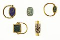 Scarab Finger Ring with the Names of Thutmose III and Hatshepsut MET scarabgroup 5.bot.jpg