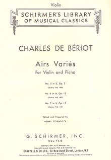 Schirmer cover page of Bériot's Airs Variés.jpg