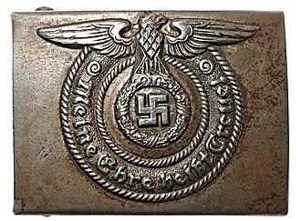 Meine Ehre heißt Treue - SS belt buckle featuring the motto Meine Ehre heißt Treue.