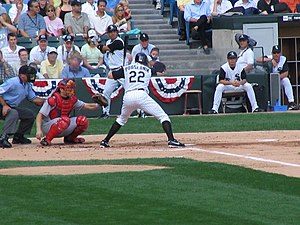 Scott Podsednik - Podsednik batting for the Chicago White Sox in 2005 American League Division Series.