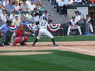 Scott Podsednik - Podsednik batting for the Chicago White Sox in 2005 American League Division Series.